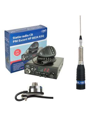 CBR CBI станция CBI ESCORT CB 8024 ASQ + CB PNI ML160 антена с T941 поддръжка