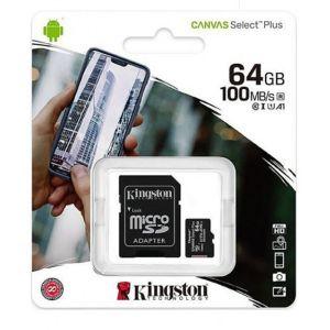 Карта с памет MicroSD Canvas Select Plus, 64GB, 100MB / s, с адаптер