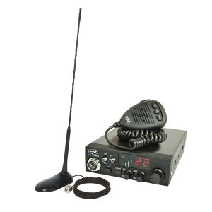 CB PNI ESCORT CB радиостанция CB 8024 ASQ 12 / 24V + CB PNI Екстра 45 магнитна антена