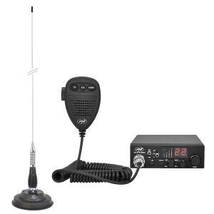 Комплект CB радио CBI ESCORT HP 8000L ASQ + Антена CB PNI СО100